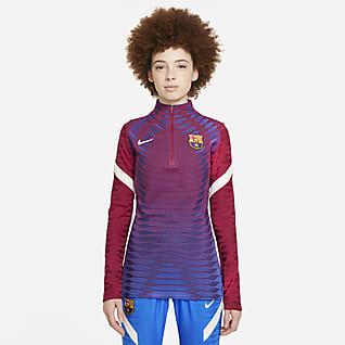 FC Barcelona Strike Elite Prenda para la parte superior de entrenamiento de fútbol Nike Dri-FIT ADV para mujer