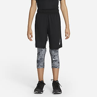 Nike Pro Leggings 3/4 para niño talla grande
