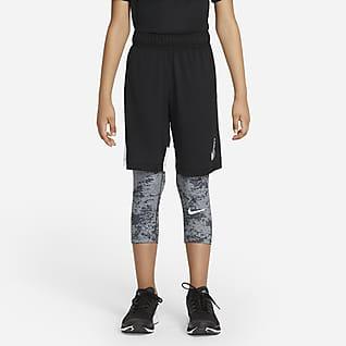 Nike Pro Big Kids' (Boys') 3/4 Leggings