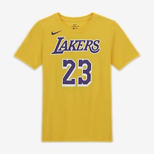 LeBron James Lakers Nike NBA-játékos póló nagyobb gyerekeknek