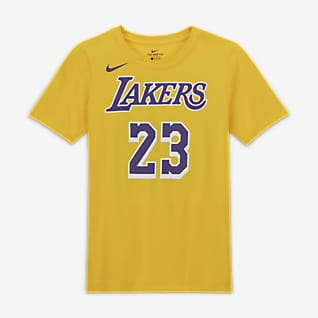 LeBron James Λος Άντζελες Λέικερς T-Shirt Nike NBA Player για μεγάλα παιδιά