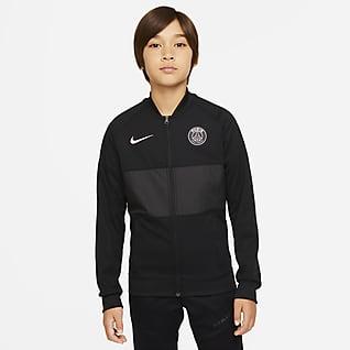Paris Saint-Germain Tam Boy Fermuarlı Genç Çocuk Futbol Ceketi
