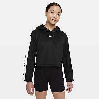 Nike Pro Therma-FIT Sudadera con capucha sin cierre para niña talla grande