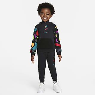 Nike Sportswear Club Fleece Conjunto infantil de pantalones de entrenamiento y sudadera con gorro