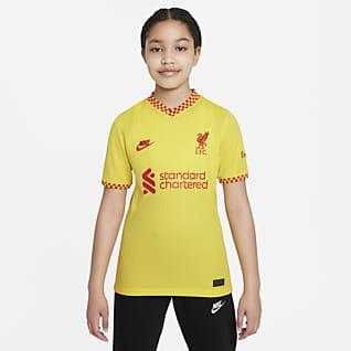 Εναλλακτική εμφάνιση Λίβερπουλ 2021/22 Stadium Ποδοσφαιρική φανέλα Nike Dri-FIT για μεγάλα παιδιά