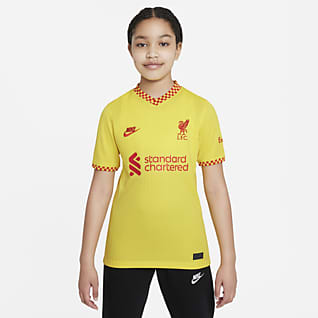 Liverpool FC 2021/22 Stadium (wersja trzecia) Koszulka piłkarska dla dużych dzieci Nike Dri-FIT
