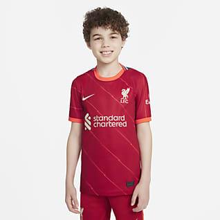 Equipamento principal Stadium Liverpool FC 2021/22 Camisola de futebol Júnior