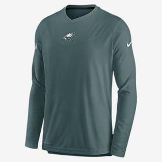 Nike Dri-FIT Sideline Coaches (NFL Philadelphia Eagles) Men's Long-Sleeve V-Neck T-Shirt