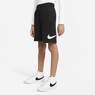 Nike Sportswear Swoosh Frottéshorts til store barn (gutt)