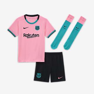 FC Barcelona 2020/21 Third Fotbollsställ för barn