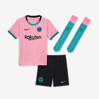 FC Barcelona alternativo 2020/21 Kit de fútbol para niños talla pequeña