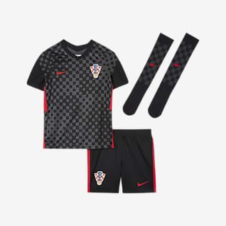 Croacia de visitante 2020 Kit de fútbol para niños talla pequeña