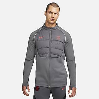 Paris Saint-Germain Strike Winter Warrior Pánské fotbalové tréninkové tričko Nike Therma-FIT