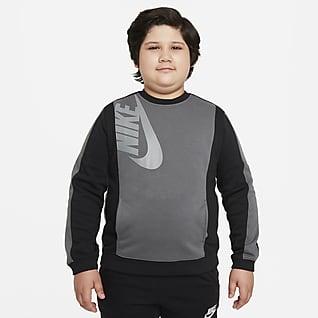 Nike Sportswear Amplify Sudadera de tejido Fleece para niño talla grande (talla extendida)