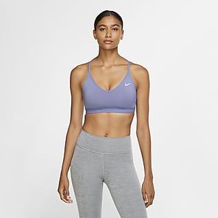 Nike Indy Metallic-Sport-BH mit Ösen und leichtem Halt für Damen