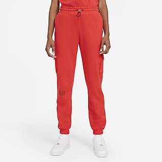 Nike Sportswear Swoosh Calças em tecido moletão para mulher