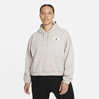 Jordan Essentials Sudadera con capucha de tejido Fleece para mujer (talla grande)