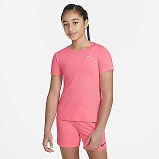 Nike Pro Kısa Kollu Genç Çocuk (Kız) Üstü