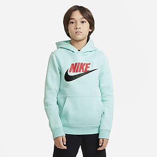 Nike Sportswear Club Fleece Sudadera con capucha sin cierre para niños talla grande