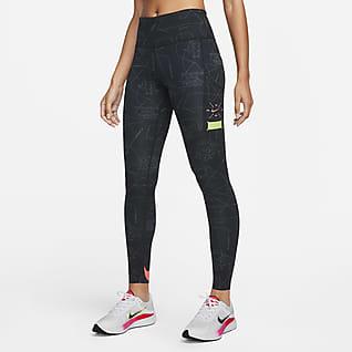 Nike Dri-FIT Berlin Epic Luxe Løpeleggings med mellomhøyt liv til dame