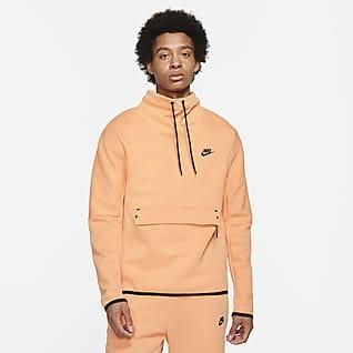 Nike Sportswear Tech Fleece Parte de arriba de cuello de embudo y manga larga - Hombre