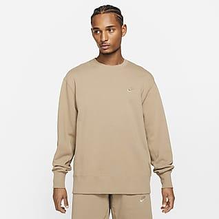 Nike Sportswear Klassisk fleecetröja med rund hals för män