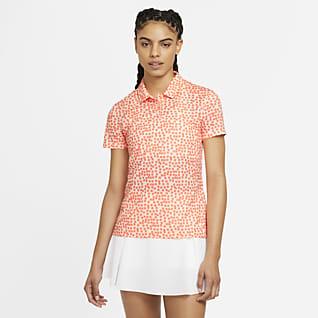 Nike Dri-FIT Женская рубашка-поло с принтом для гольфа