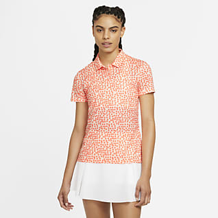 Nike Dri-FIT Golf-Poloshirt mit Print für Damen