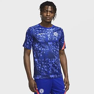 Chelsea FC Camisola de futebol de manga curta do equipamento de aquecimento para homem
