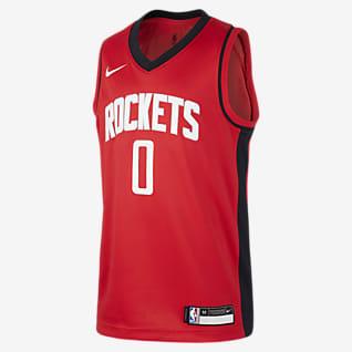 Rockets Icon Edition Nike NBA Swingman-trøje til store børn