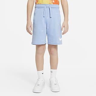 Nike Sportswear Swoosh Shorts de French Terry para niño talla grande