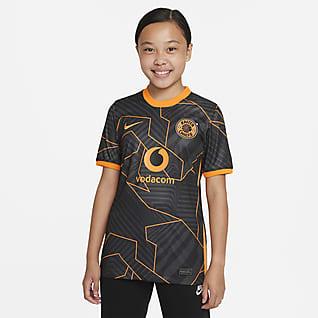 Kaizer Chiefs F.C. 2021/22 Stadium Uit Nike voetbalshirt met Dri-FIT voor kids
