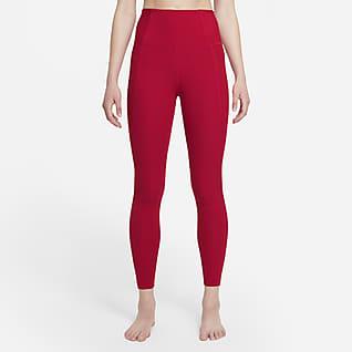 Nike Yoga Luxe Dri-FIT 7/8-Infinalon-Leggings mit hohem Taillenbund für Damen