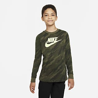 Nike Sportswear Футболка с длинным рукавом для мальчиков школьного возраста
