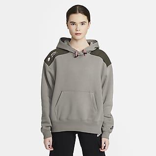 Nike Sportswear Felpa pullover in fleece con cappuccio - Donna