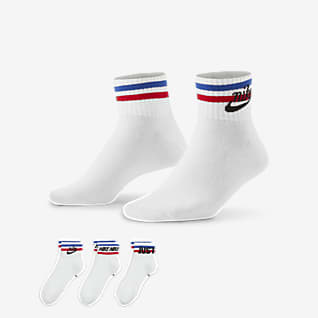 Nike Essential Κάλτσες μέχρι τον αστράγαλο (τρία ζευγάρια)