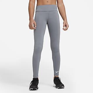 Nike One Big Kids' (Girls') High-Waisted Training Leggings
