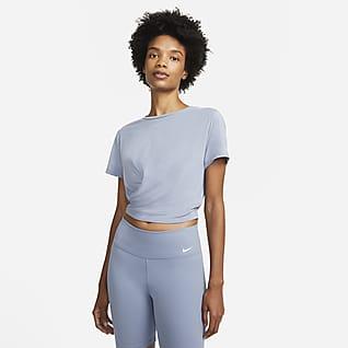 Nike Dri-FIT One Luxe Playera Twist de manga corta y ajuste estándar para mujer