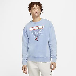 Jordan Flight Fleece Sweatshirt van fleece met ronde hals en graphic voor heren