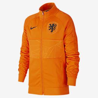 Nederländerna Fotbollsjacka för ungdom