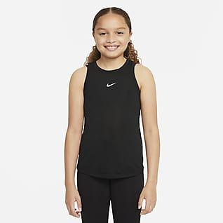 Nike Dri-FIT One Camisola sem mangas Júnior (Rapariga)