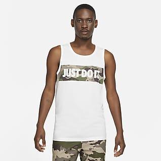 Nike Dri-FIT Pánské maskáčové tréninkové tričko sgrafickým motivem