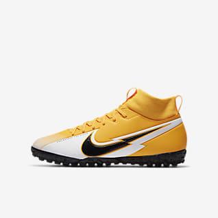 Nike Jr. Mercurial Superfly 7 Academy TF Sapatilhas de futebol para relva artificial para criança/Júnior
