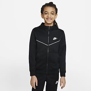 Nike Sportswear Tam Boy Fermuarlı Genç Çocuk (Erkek) Kapüşonlu Üst