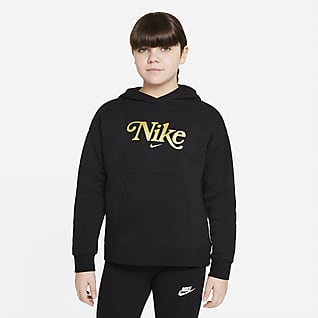 Nike Sportswear Club Fleece Older Kids' (Girls') Hoodie (Extended Size)