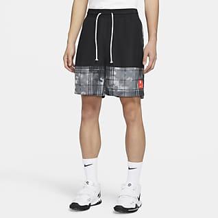 Kyrie กางเกง Nike Basketball ผู้ชายขาสั้นพิมพ์ลาย