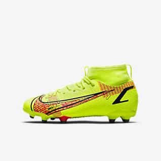 NikeJr. Mercurial Superfly8 AcademyMG Chaussure de football à crampons multi-surfaces pour Jeune enfant/Enfant plus âgé