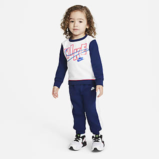 Nike Baby (12-24M) Color-Block Crew and Joggers Set