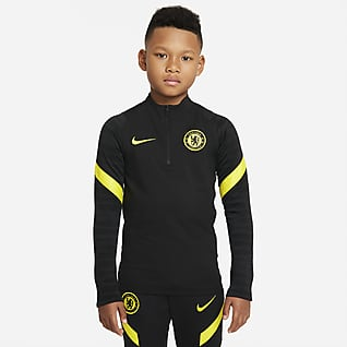 Chelsea FC Strike Nike Dri-FIT Genç Çocuk Futbol Antrenman Üstü