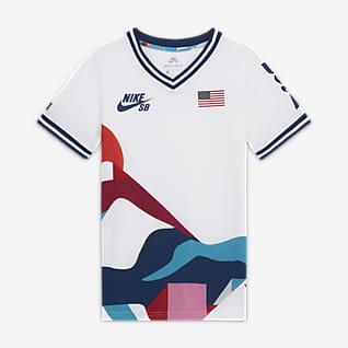 Nike SB Team USA Camiseta de skateboarding para niño talla grande
